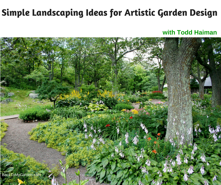Simple landscaping ideas for artistic garden design with for Garden design podcast